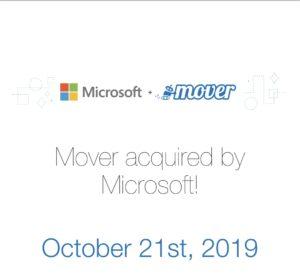 Microsoft obtains Mover